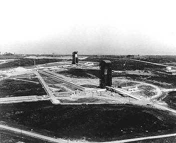 Launch complex 36 at Cape Kennedy in 1964 (36A and 36B)
