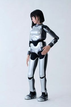 HRP-4C is a humanoid robot that can dance, built by AIST, a Japanese research institute. © AIST