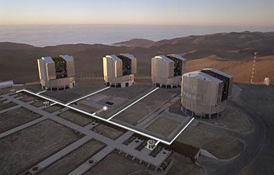 The four VLT 8.20 m telescopes