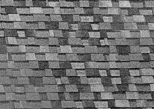 A roof covered with grey shingle.  © Chefranden-CC-by