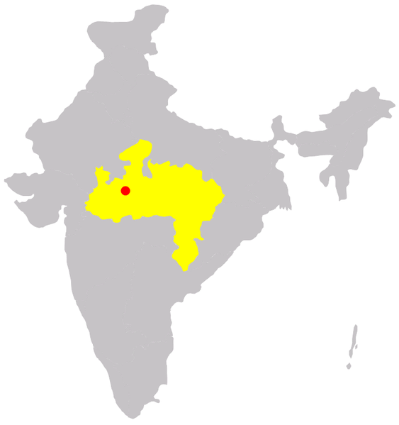 Location of the city of Bhopal, capital of Madhya Pradesh, one of the states of India. © Immanuel Giel, Wikimedia public domain