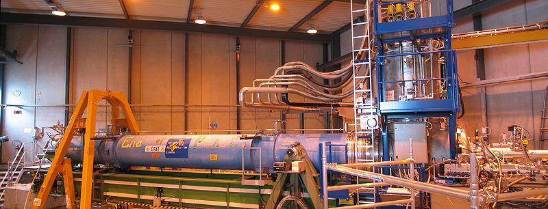 CAST, the CERN experiment. © Roland Hagemann, Wikipédia CC by sa 3.0