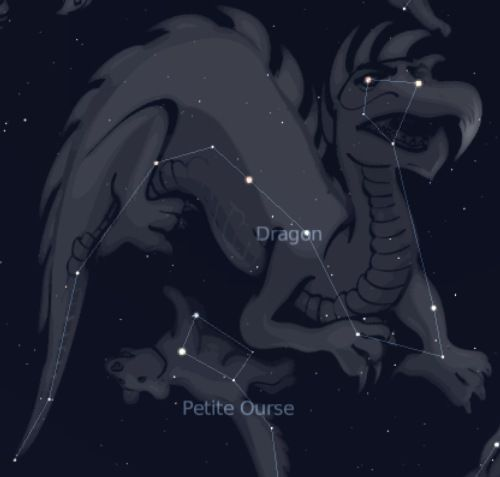 The constellation of Draco