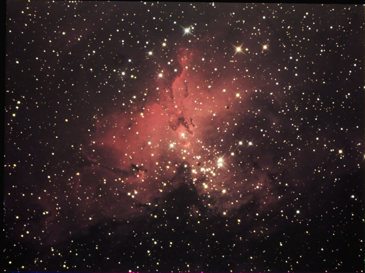 "Photographed by ""Chamois"" (the person's pseudonym on the Futura-Sciences astro forum) using an exposure of 80 minutes on a CCD camera and a 200 mm telescope."