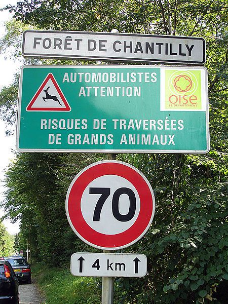 An example of roadkill reduction, based on prevention and the reduction of the speed limit along part of a road identified as a crossing place for large wildlife.  © Clicsouris, Wikimedia CC by-sa 3.0