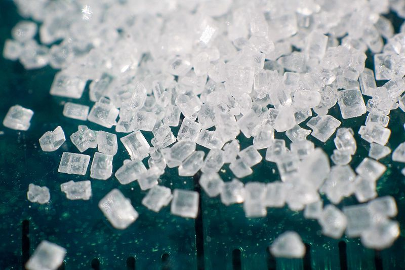 Table sugar (sucrose) is a disaccharide. © Lauri Andler, Wikimedia, GFDL