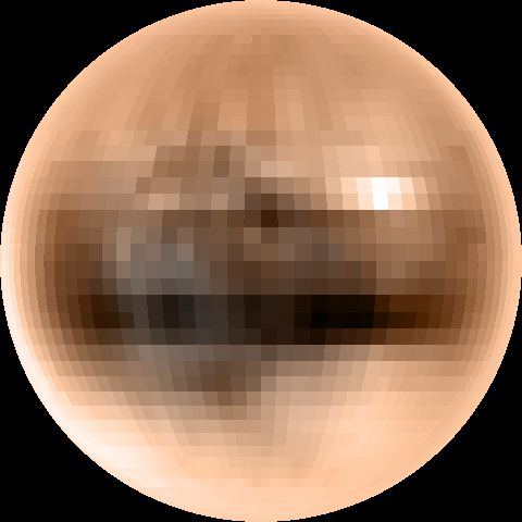 Pluto seen from the Hubble space telescope. Credit NASA.