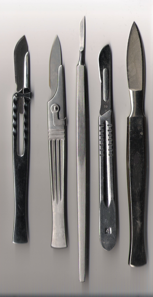 Excision requires a scalpel to be used. ©  Public domain
