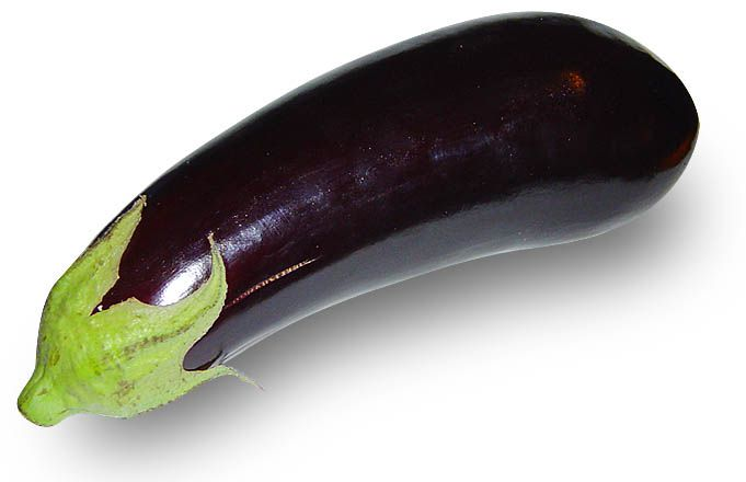 Aubergine is a fruit rich in vitamins. © Wikimedia Commons