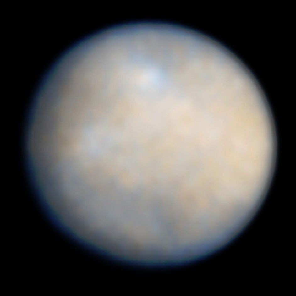 Ceres photographed in 2004 by the Hubble space telescope. Credit NASA