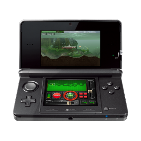 With its autostereoscopic screen, the Nintendo 3DS is the first games console to offer 3D without spectacles. © Nintendo