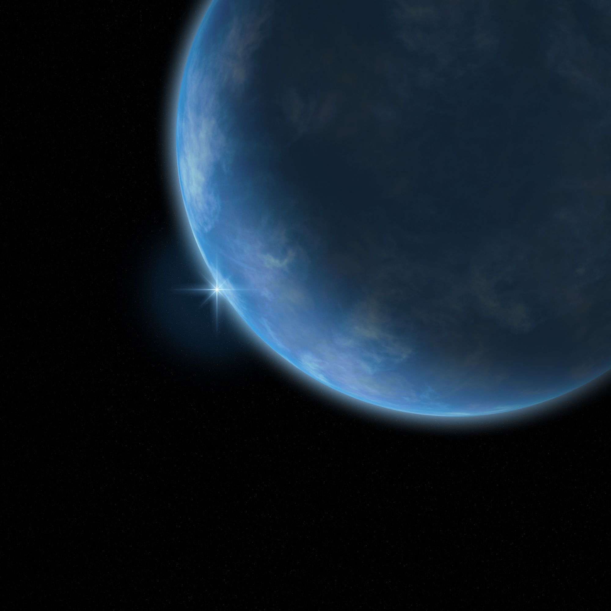 An artist's impression of an ocean planet. © www.clevelandwebs.com-samuel tucker