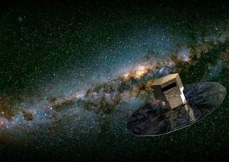 Gaia mapping the stars in the Milky Way. The programme was approved by the ESA in 2000, and it is planned to launch it in 2013.