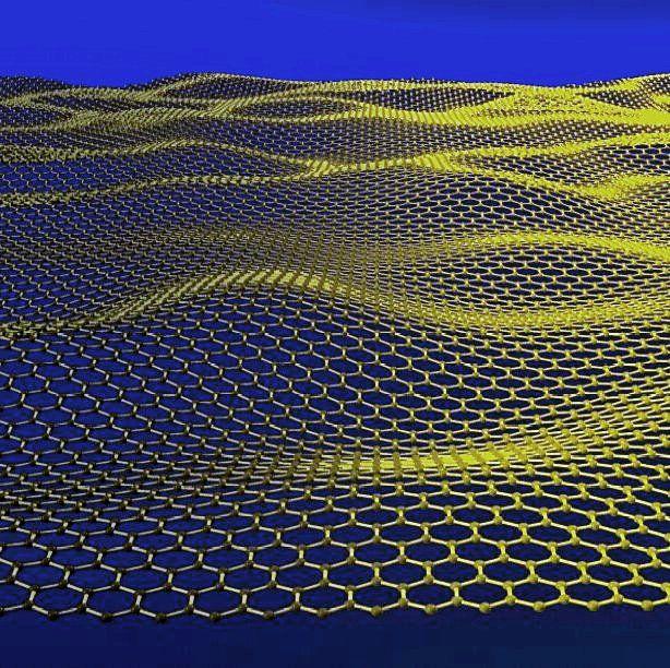 The 2D structure of a graphene sheet. © Jannik Meyer